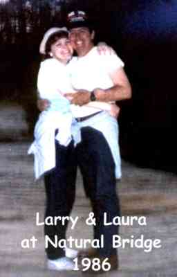 Larry & Laura at Natural Bridge 1986