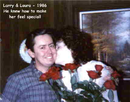 Larry & Laura - 1986 He knew how to make her feel special!