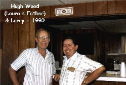 Hugh Wood (Laura's Father) & Larry - 1990